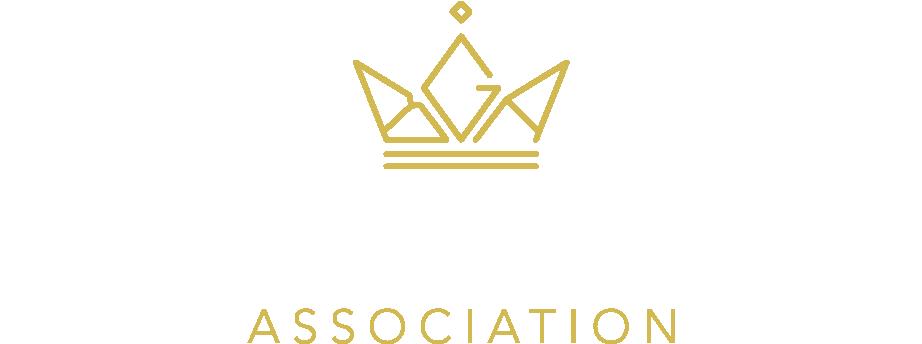 Business Graduates Association (BGA) logo in gold and white