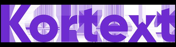Purple Kortext logo.
