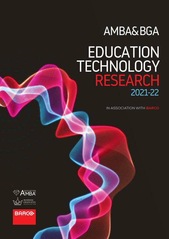 Front cover of AMBA & BGA Education Technology Research 2021-22